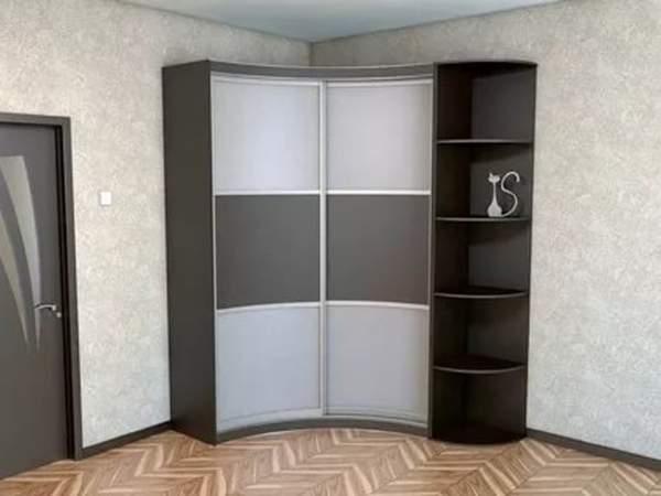 Фото современного углового шкафа купе в спальне