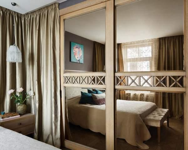 Дизайн встраиваемого шкафа купе для спальни