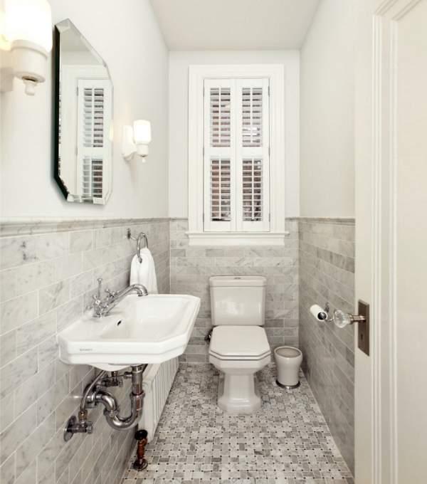 Как оформить интерьер маленького туалета - фото со шкафом
