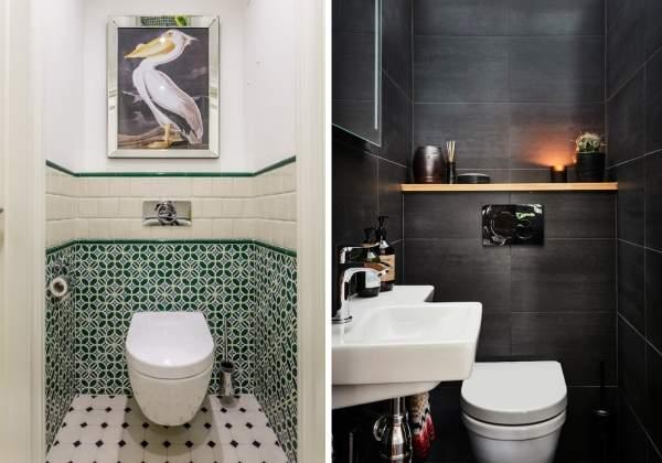 Каким может быть дизайн туалета маленького размера - фото 2017