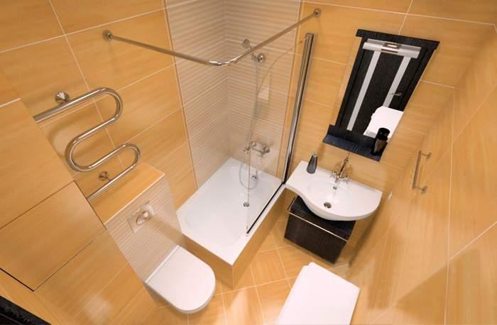 Дизайн совмещенного санузла в интерьере однокомнатной квартиры хрущевки