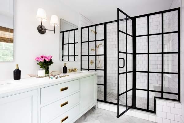 Купить душевую стеклянную дверь в ванную комнату