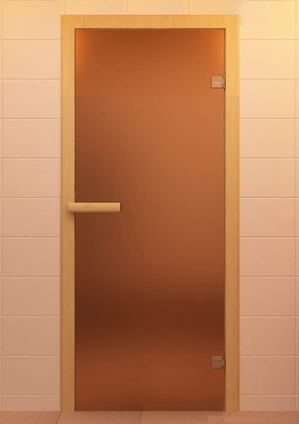 Матовые стеклянные двери для сауны и бани