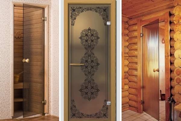 Дверь для сауны стеклянная - выбираем дизайн и качество