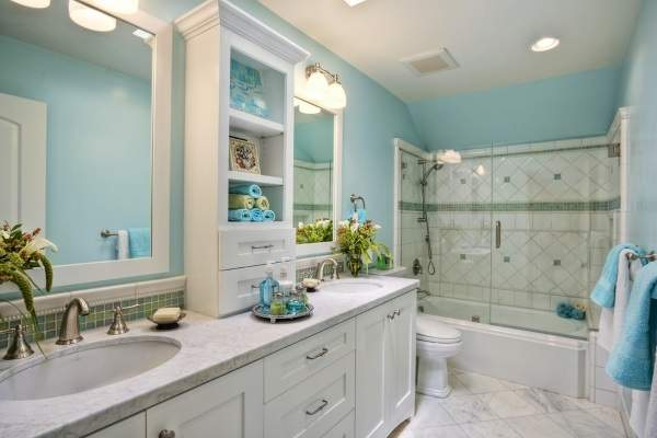 Стеклянные двери для ванной комнаты вместо душевых шторок