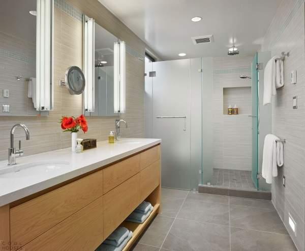 Какую стеклянную дверь купить в ванную комнату для стильного дизайна