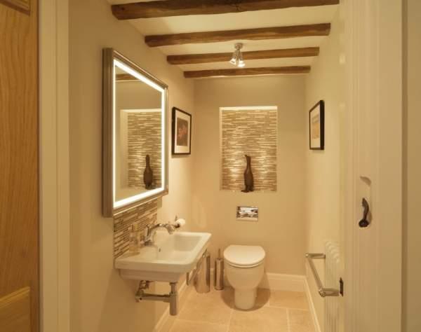 Современный дизайн туалета со светодиодной подсветкой