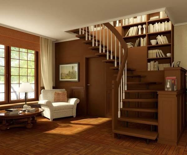 Оформление лестницы в частном доме - виды лестниц в интерьере