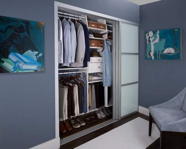 Встраиваемый шкаф купе в спальню - наполнение ниши внутри