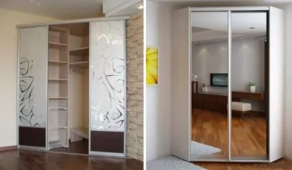 Угловой шкаф купе в спальню: фото и разновидности.