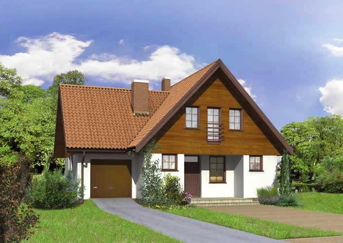 Дом с гаражом под одной крышей