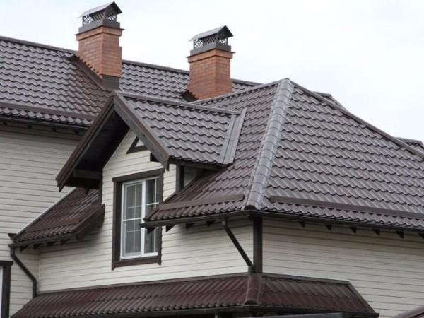 Крыша из металлочерепицы фото 1