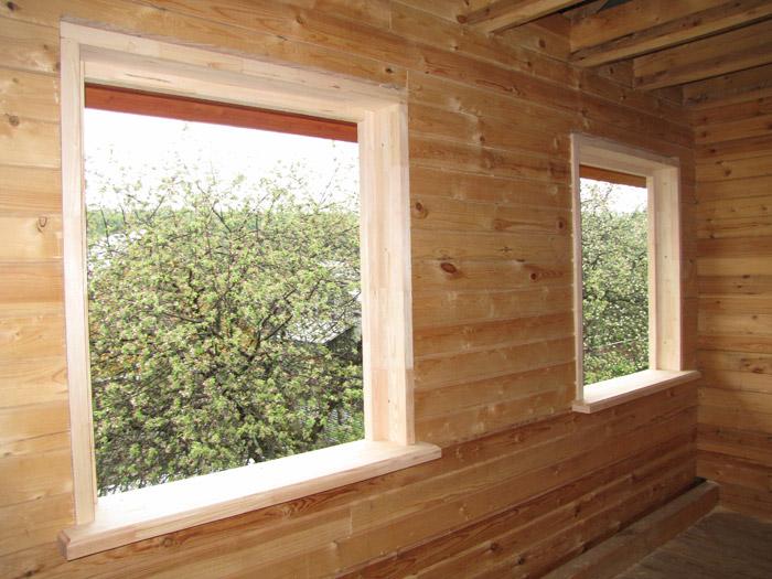 Монтаж окон в деревянном доме фото
