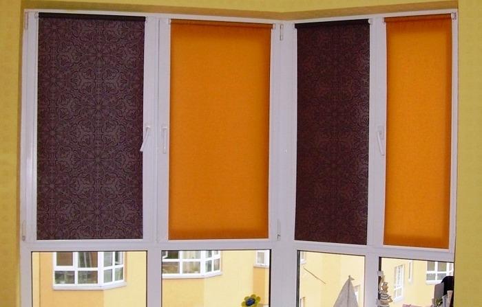 Яркие римские шторы на пластиковые окна фото открытого типа
