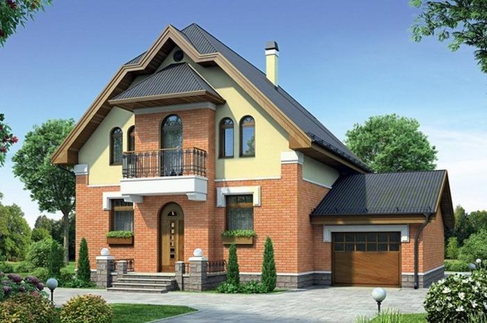 Современные проекты домов с гаражом под одной крышей