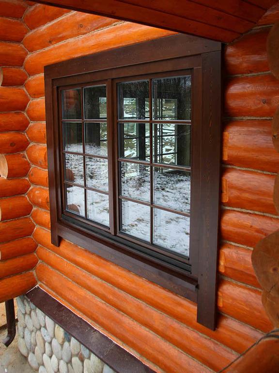Как установить окно в деревянном доме фото