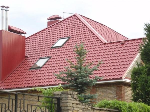 Крыша из металлочерепицы фото 2