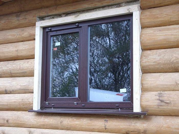 Окосячка окон в деревянном доме фото
