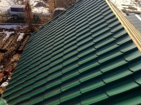 Минимальный угол наклона крыши из металлочерепицы