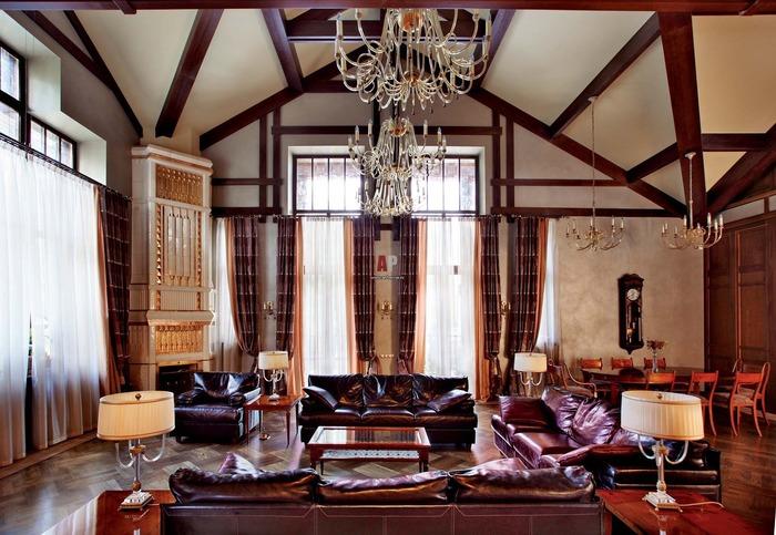 Классический стиль интерьера для гостиной дома