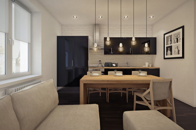 Кухня студии фото 1
