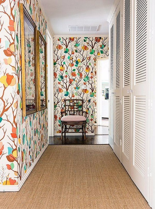 Обои в коридор фото в квартире вариант 4