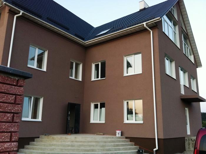 Декоративная штукатурка фасада дома фото