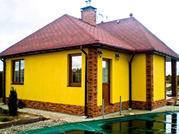 Яркие фасады домов декоративная штукатурка фото