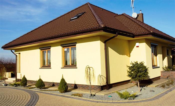 Современная декоративная штукатурка фасада дома фото