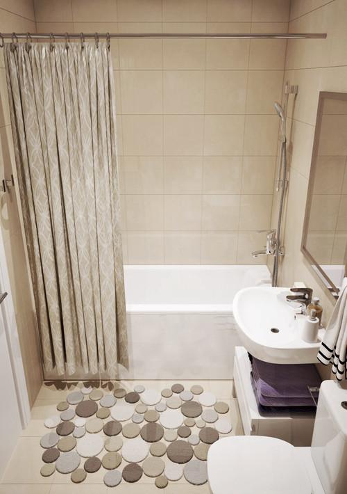 Дизайн однокомнатной квартиры 30 кв.м фото совмещенной ванной