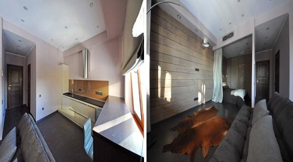 Шикарный дизайн однокомнатной квартиры 30 кв.м фото