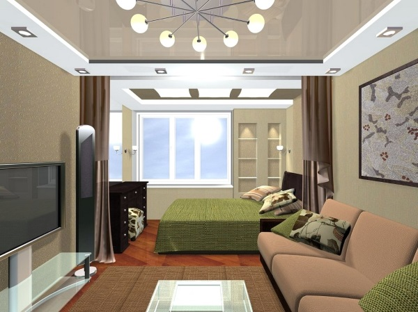 Современный дизайн однокомнатной квартиры 30 кв.м фото