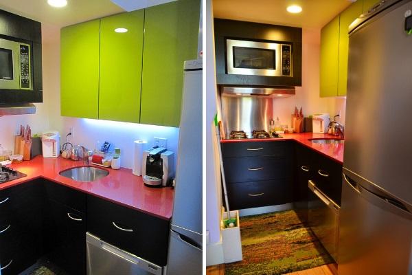Дизайн однокомнатной квартиры 30 квадратов и маленькой кухни фото
