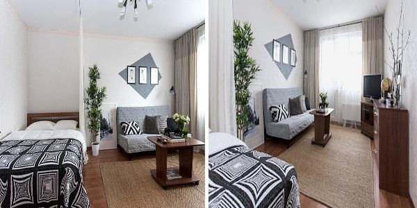 Шикарный дизайн однокомнатной квартиры 30 квадратов