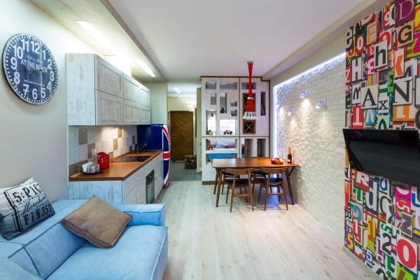 Красивый дизайн однокомнатной квартиры 30 м фото