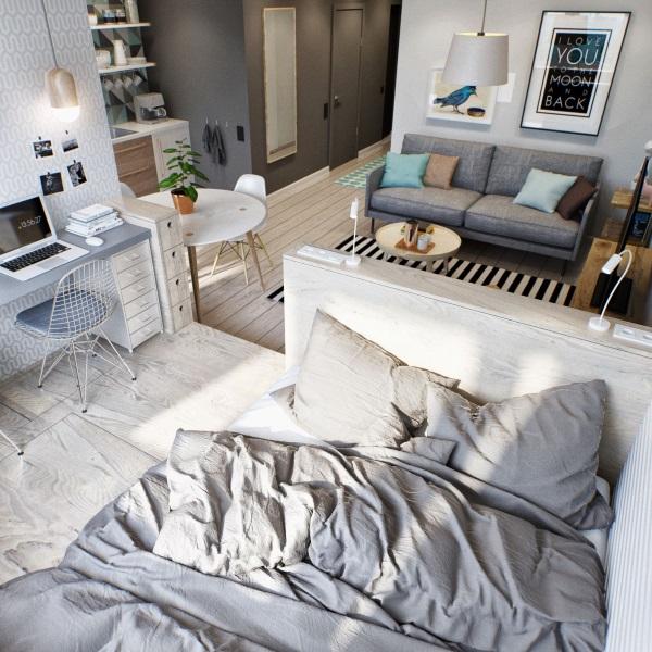 Уютный дизайн однокомнатной квартиры 30 м фото
