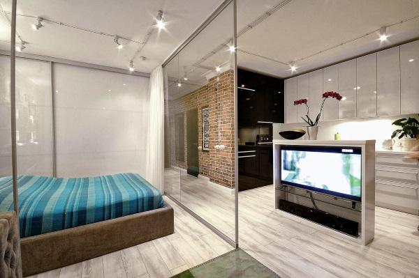 Стильный дизайн однокомнатной квартиры 30 м фото