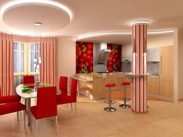 Дизайн интерьера кухни-столовой фото 5
