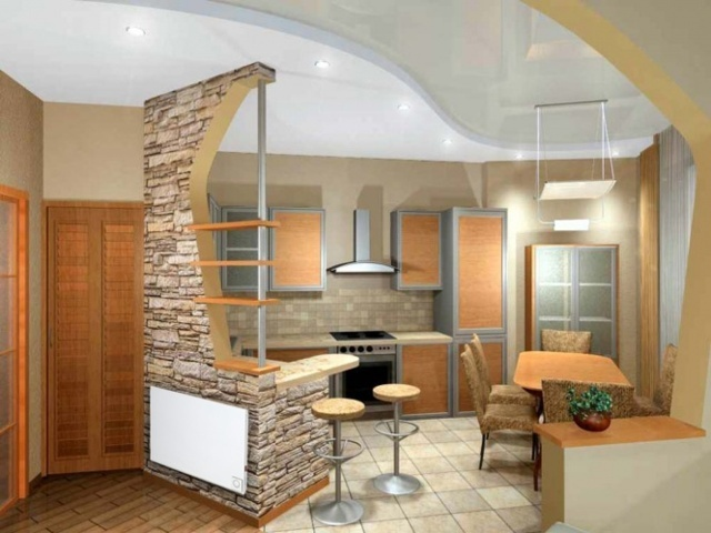 Ремонт своими руками кухня-гостиная фото