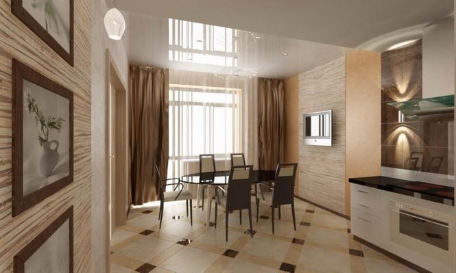 Дизайн кухни столовой в интерьере