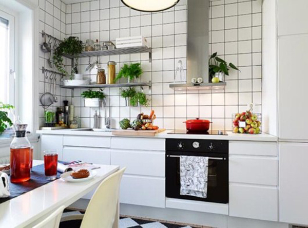 Дизайн интерьера маленькой кухни - вариант 1