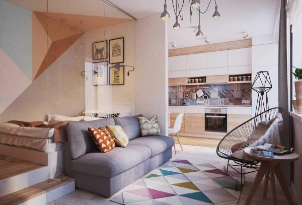 Дизайн однокомнатной квартиры 30 квадратов фото
