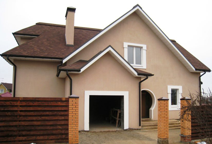 Декоративное оформление фасада дома фото