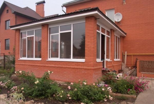 Как пристроить веранду к кирпичному дому фото 2