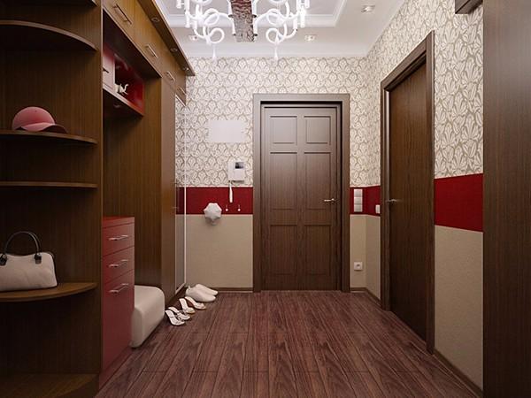 Комбинированные обои для коридора в квартире фото 2
