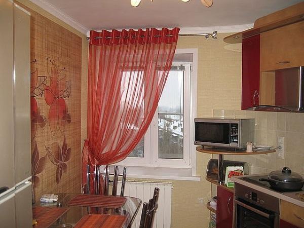 Короткие шторы на люверсах своими руками для кухни