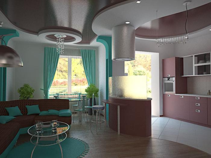 Дизайн кухни студии 2017 фото 2
