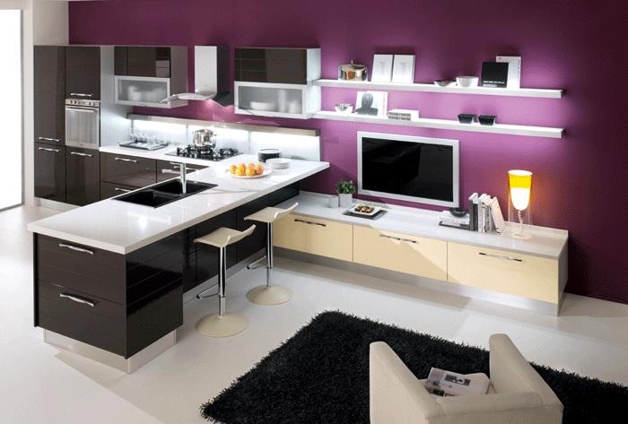 Дизайн кухни студии 2017 фото 3