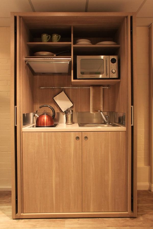Дизайн однокомнатной квартиры 30 квадратов и уютной кухни