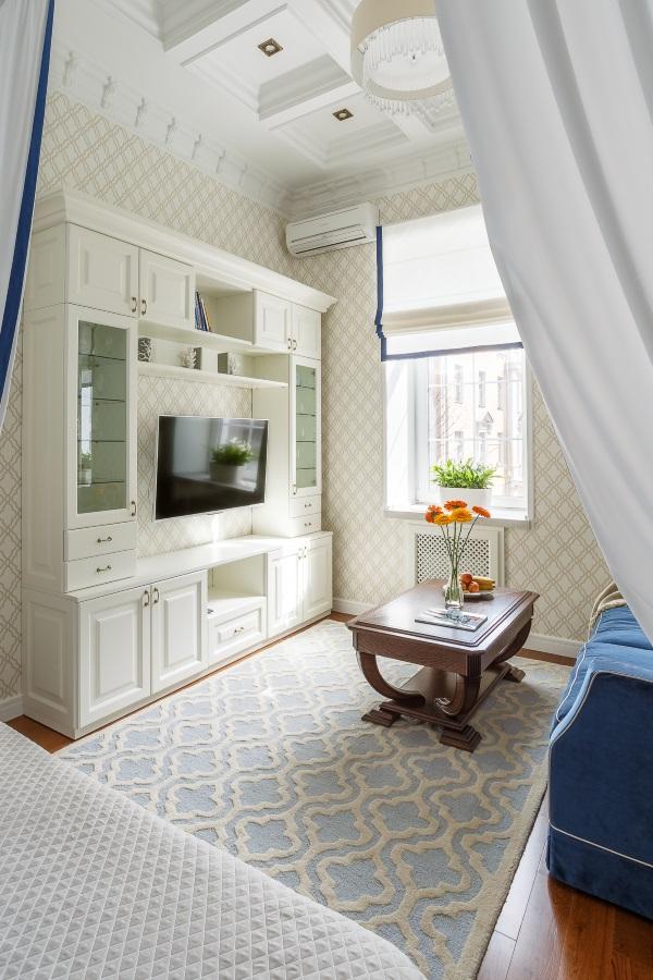 Современный дизайн однокомнатной квартиры 30 квадратов